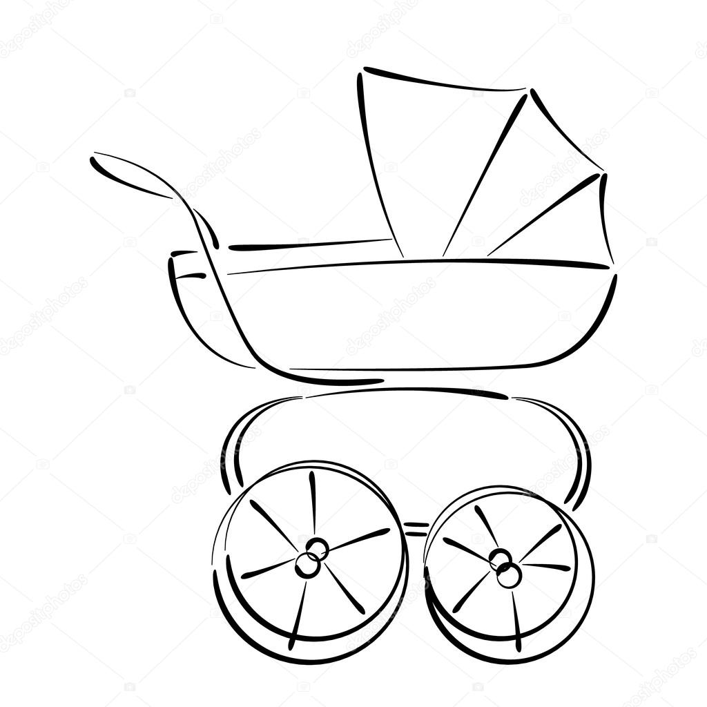 Baby Stroller Drawing At Getdrawings