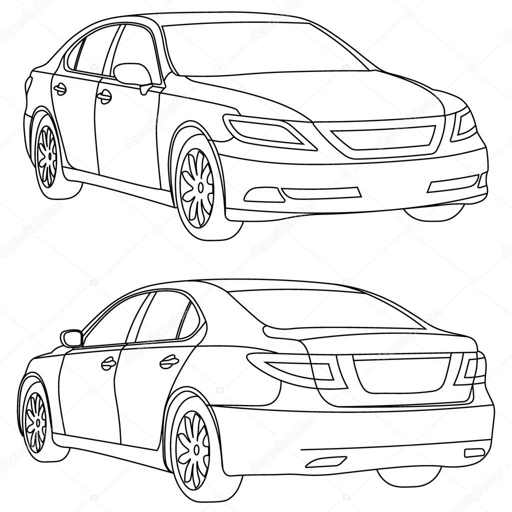 Contemporary how to draw the back of a car images electrical