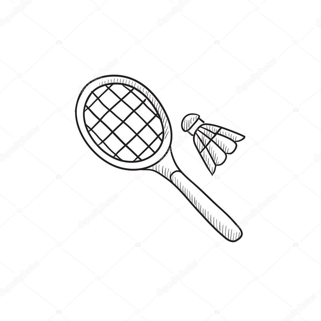Badminton Drawing At Getdrawings