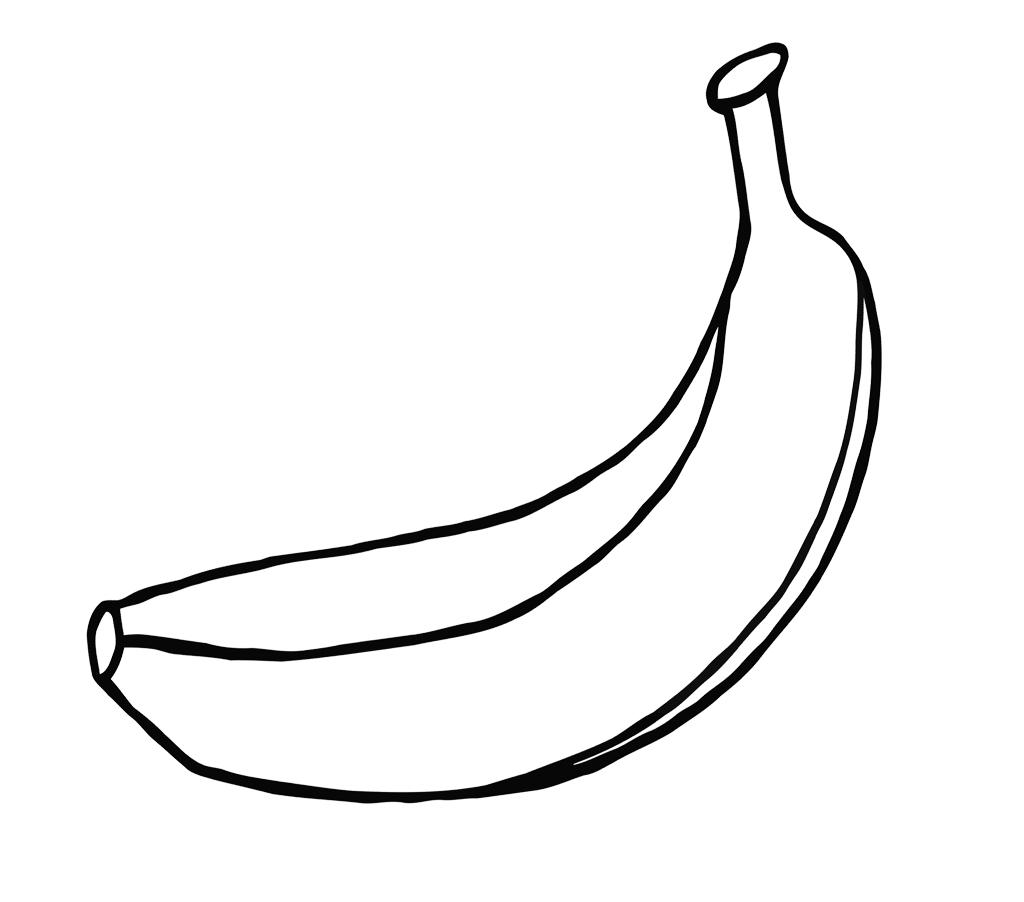 Banana Drawing Outline At Getdrawings