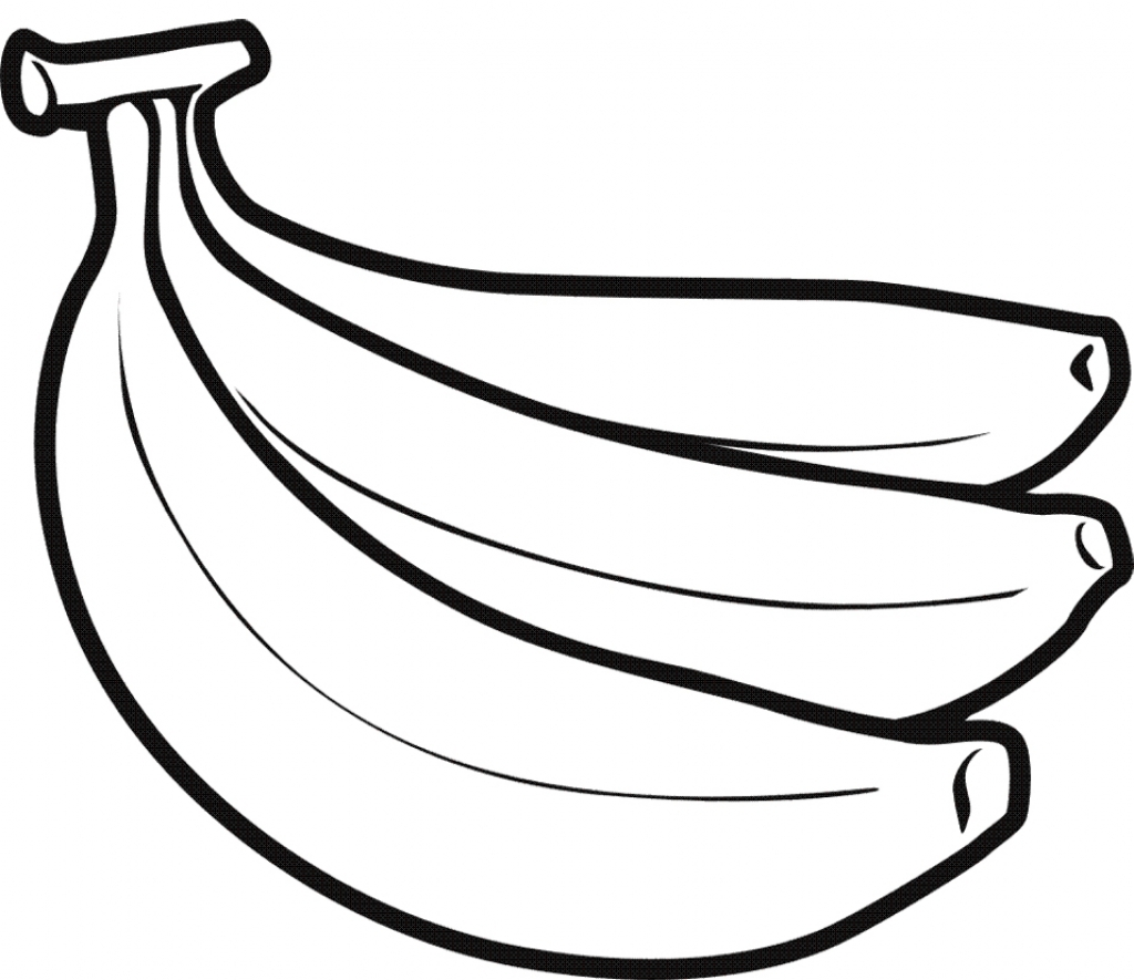 Banana Outline Drawing At Getdrawings
