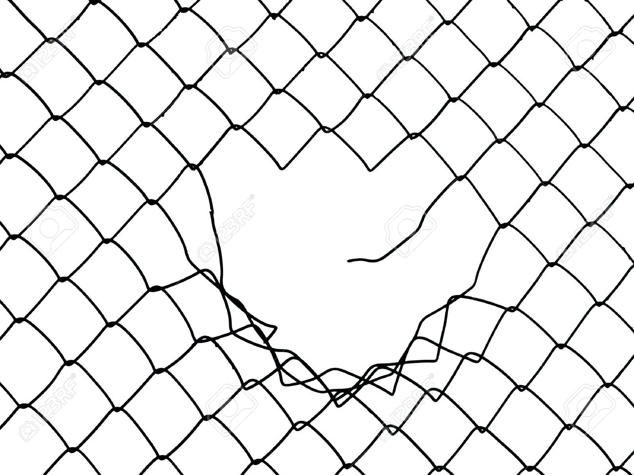 Barbed Wire Fence Drawing At Getdrawings