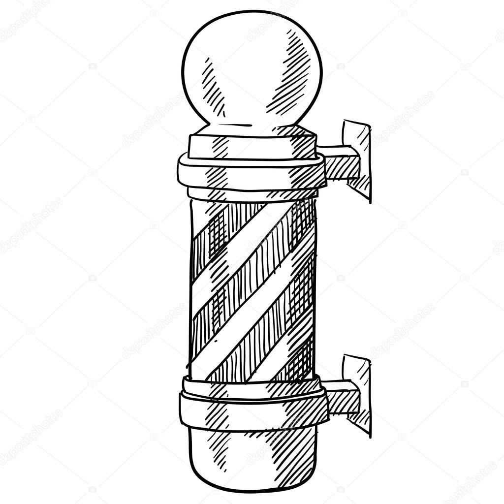 Barber Pole Drawing At Getdrawings