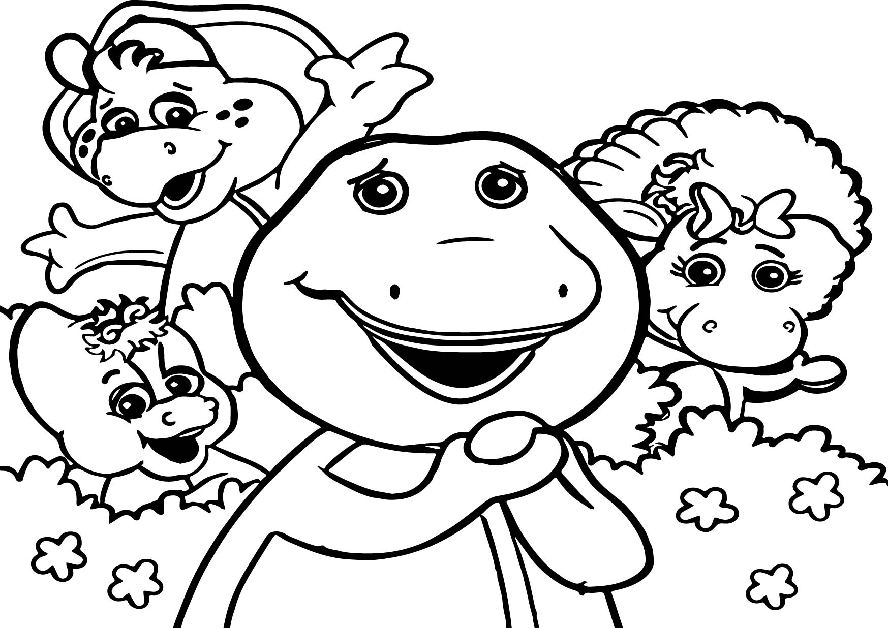 Barney And Friends Drawing At Getdrawings