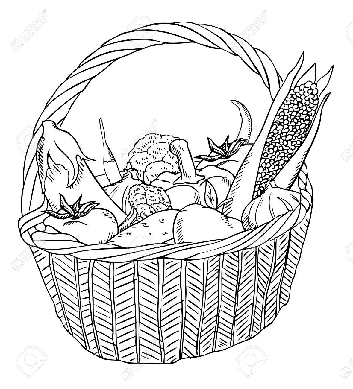 Baskets Drawing At Getdrawings