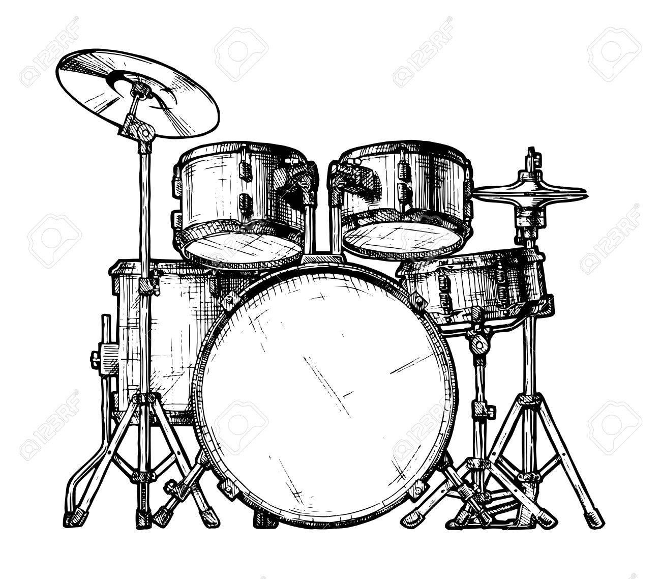 Bass Drum Drawing At Getdrawings