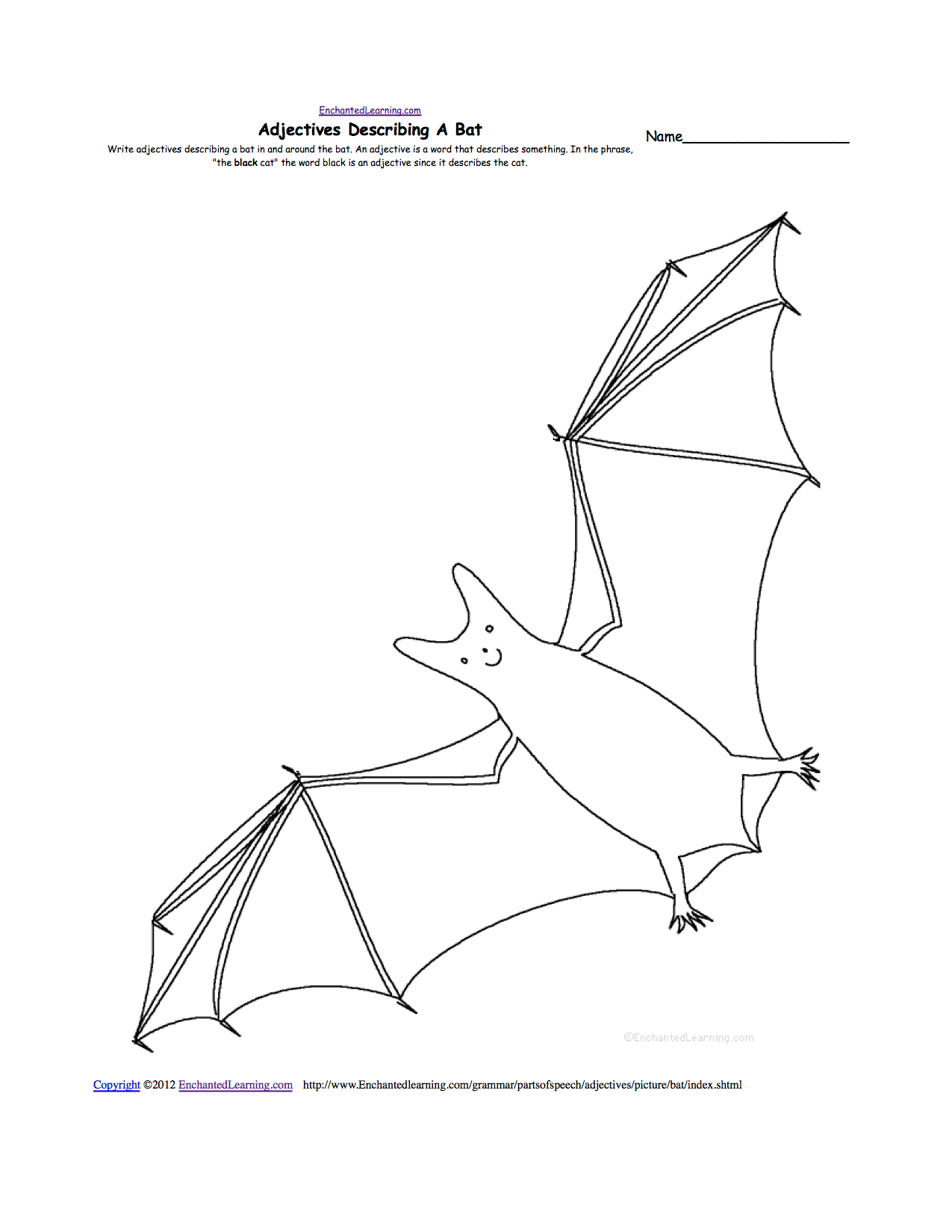 Bat Outline Drawing At Getdrawings