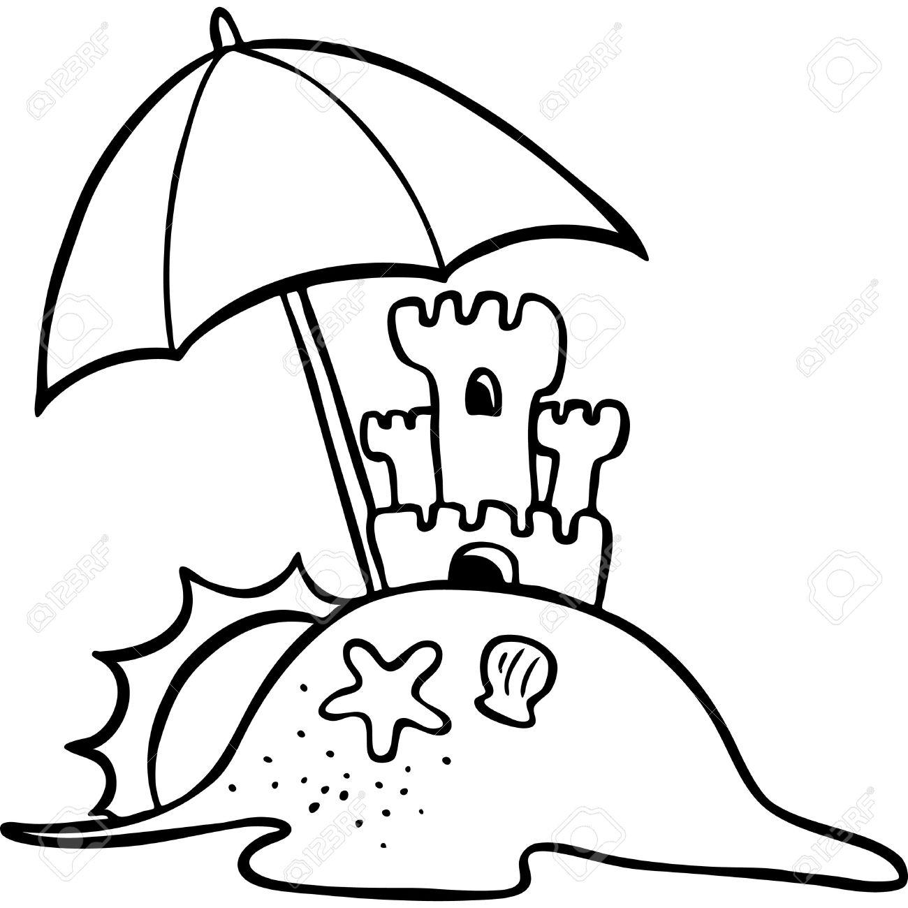 Beach Cartoon Drawing At Getdrawings