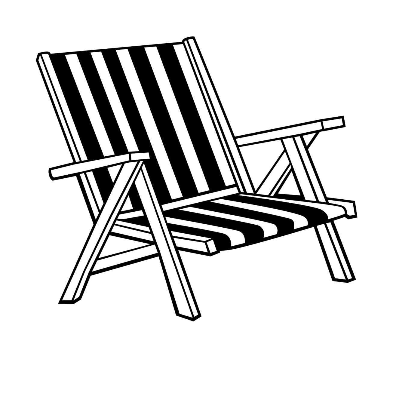 Beach Chair Drawing At Getdrawings