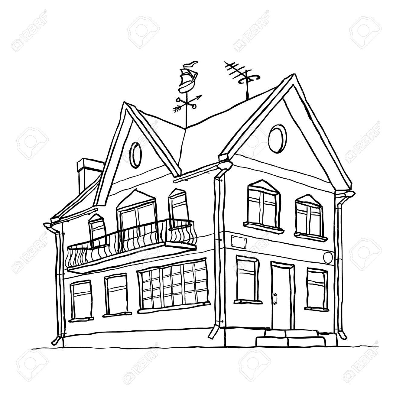 Beach House Drawing At Getdrawings