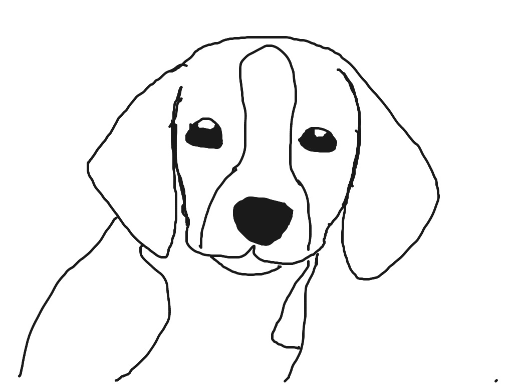 Beagle Line Drawing At Getdrawings