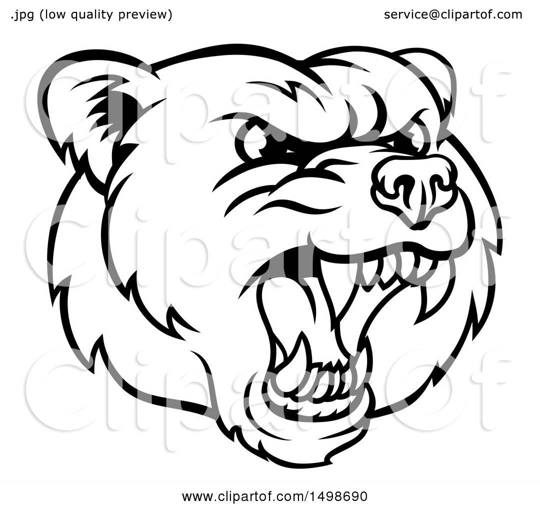 Bear Roaring Drawing At Getdrawings