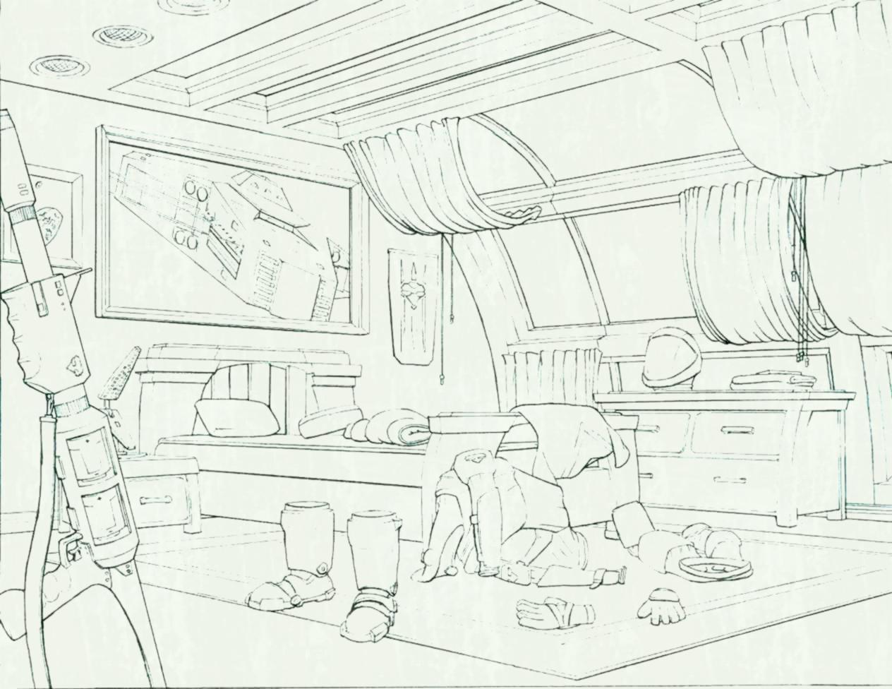 Bedroom Drawing Pencil At Getdrawings