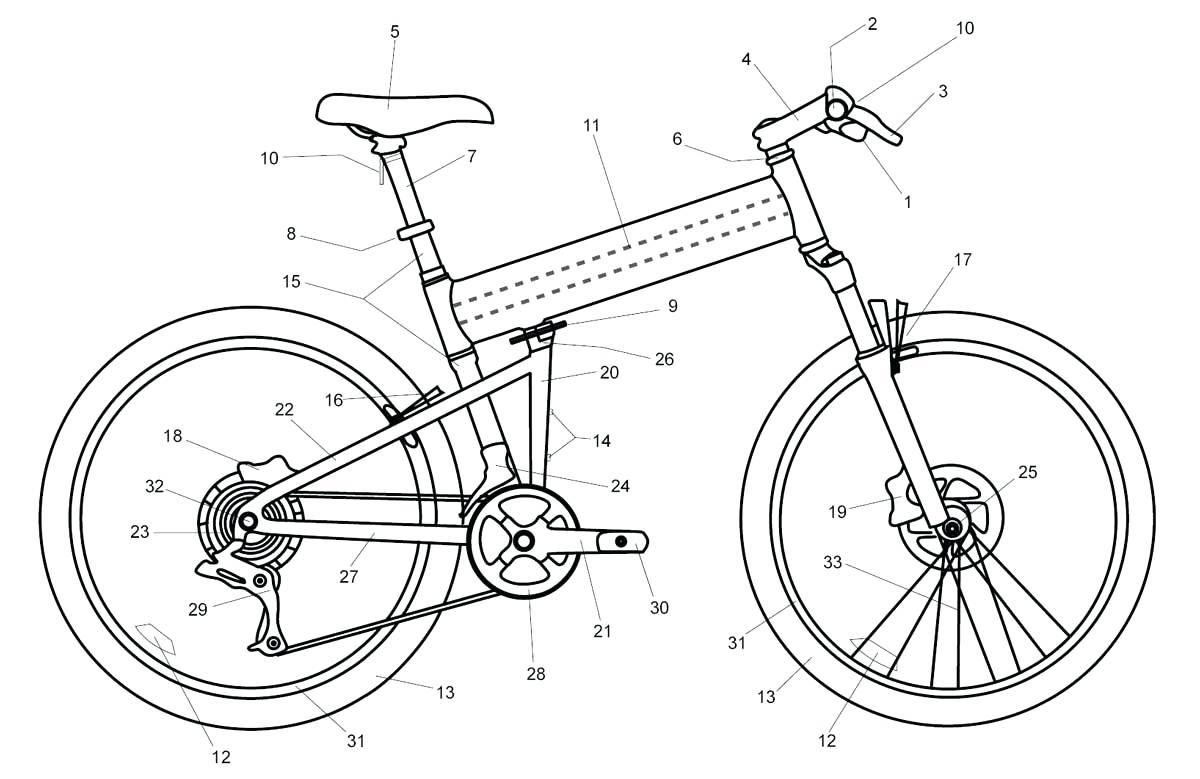 Bicycle Pencil Drawing At Getdrawings