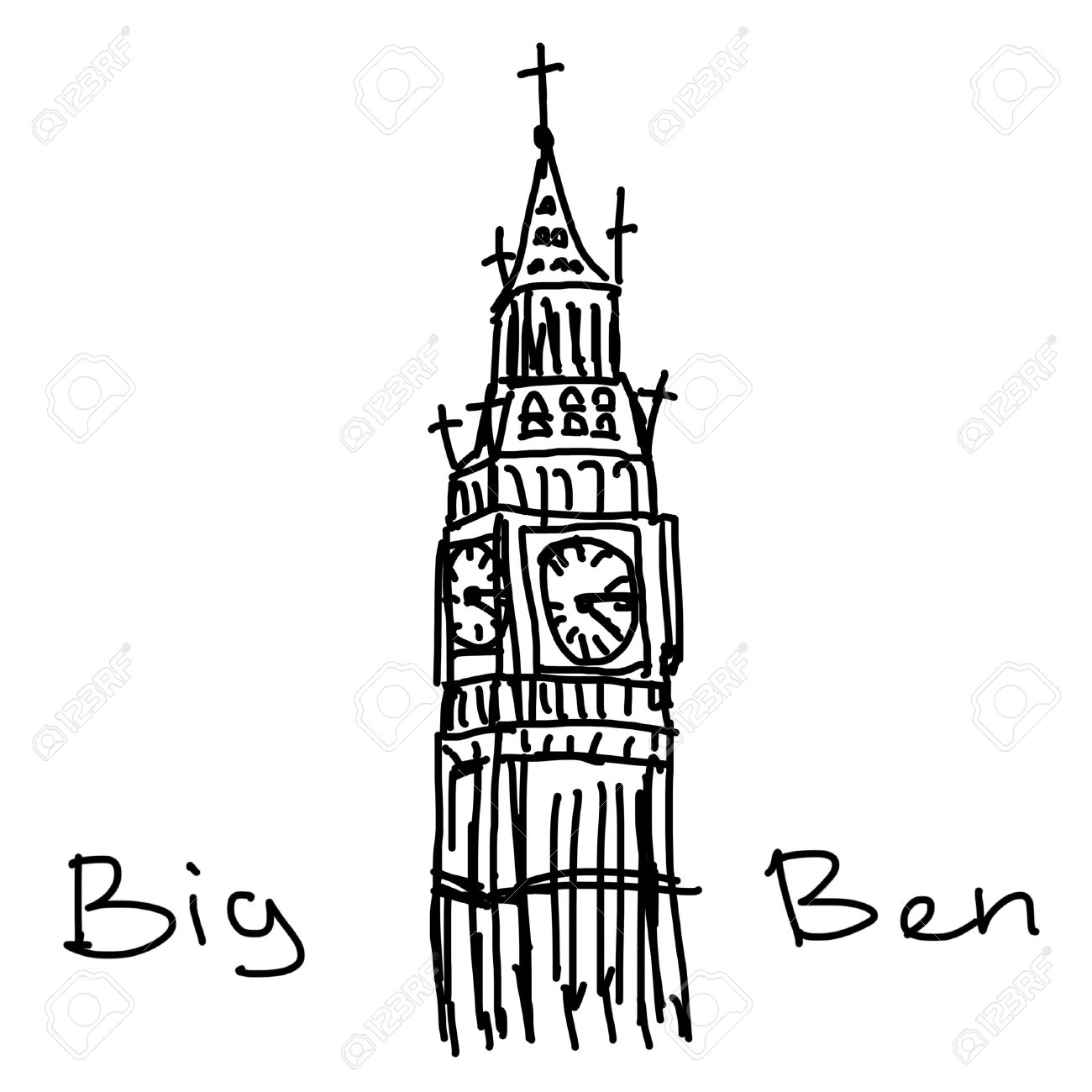 Big Ben Drawing At Getdrawings