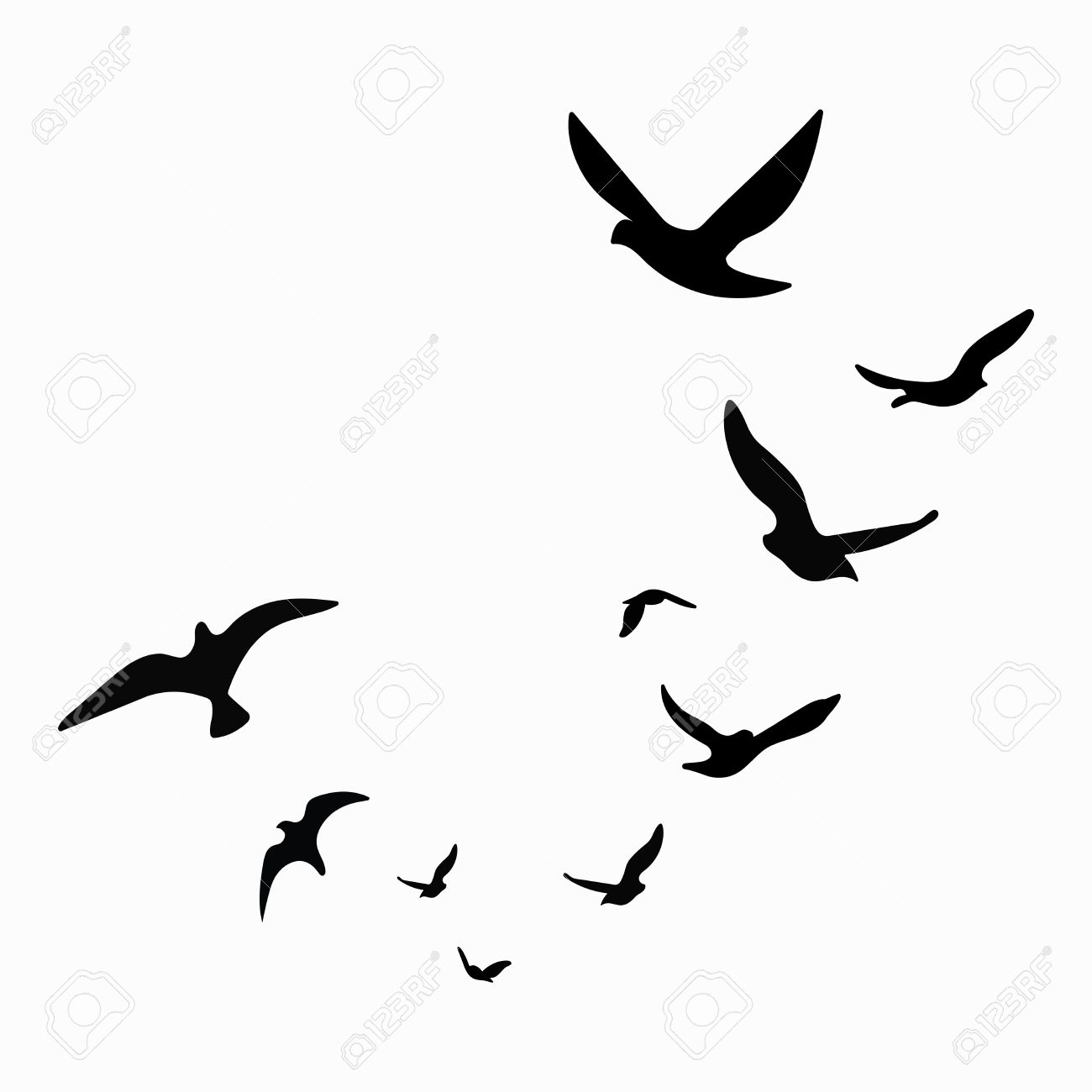 Birds Silhouette At Getdrawings
