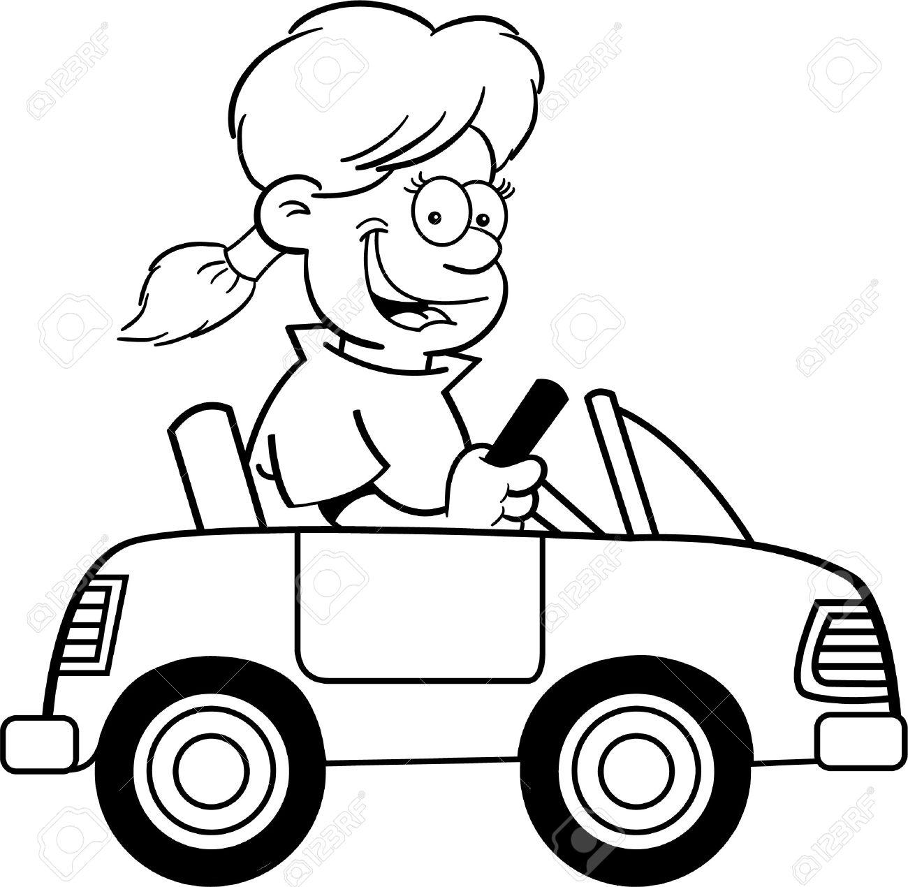Black And White Car Drawing At Getdrawings