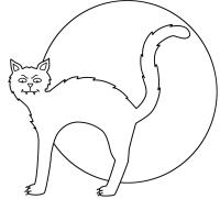 simple halloween cat drawing