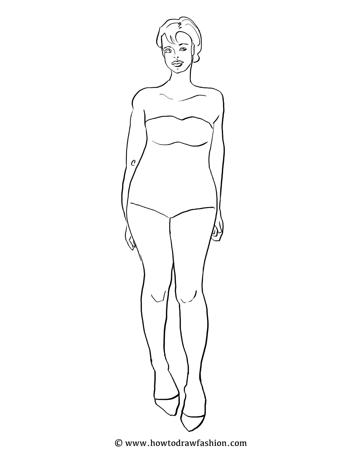 Blank Body Drawing At Getdrawings