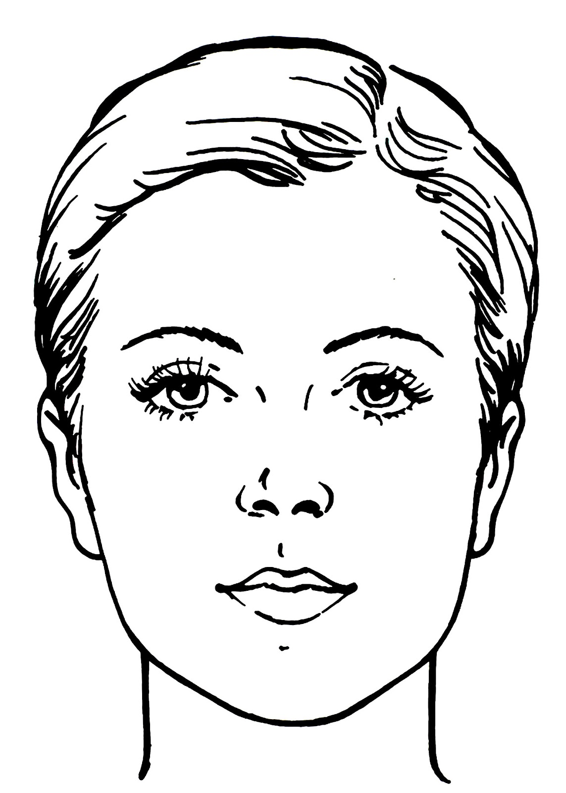 Printable Face Charts For Makeup Artists
