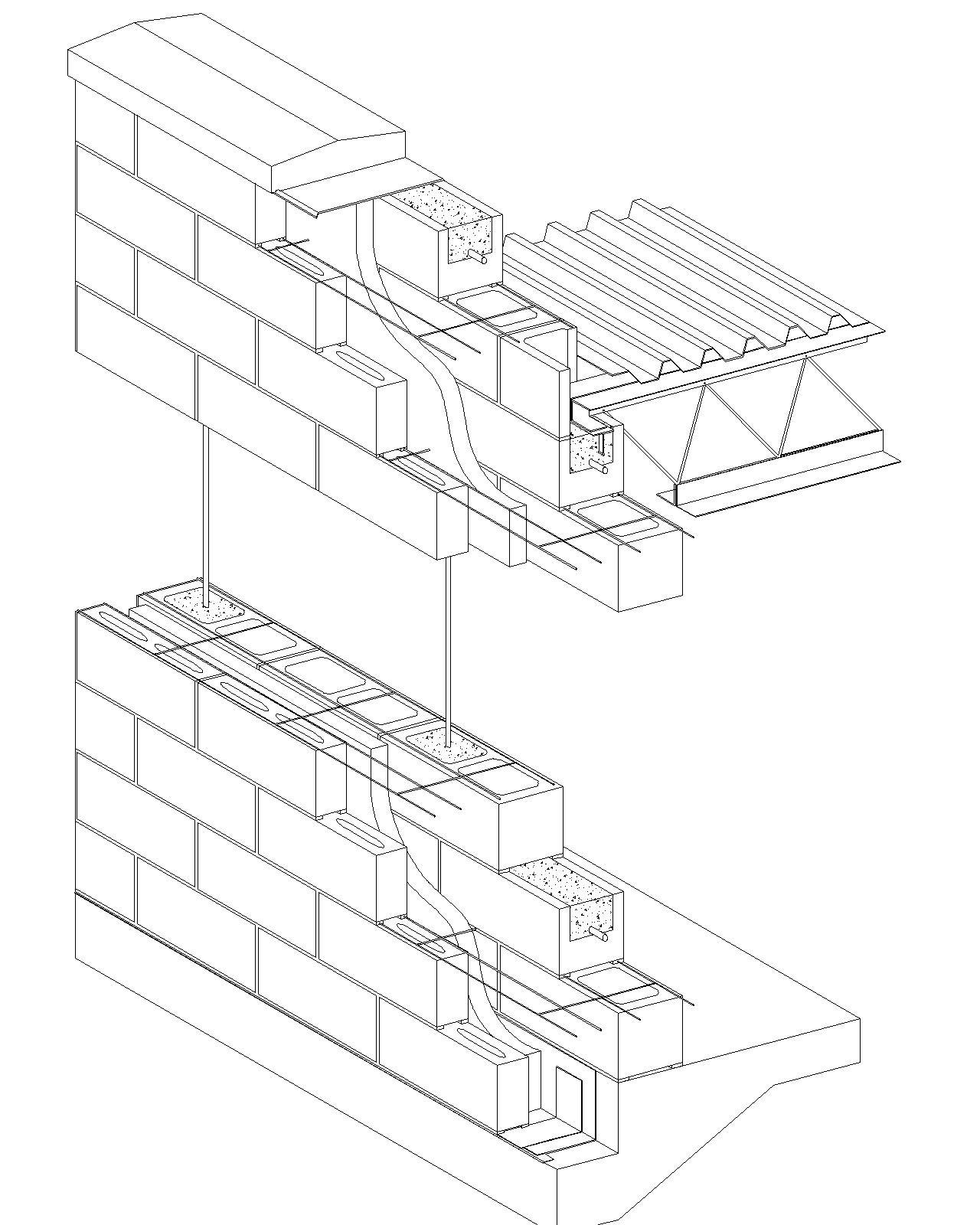 Block Wall Drawing At Getdrawings