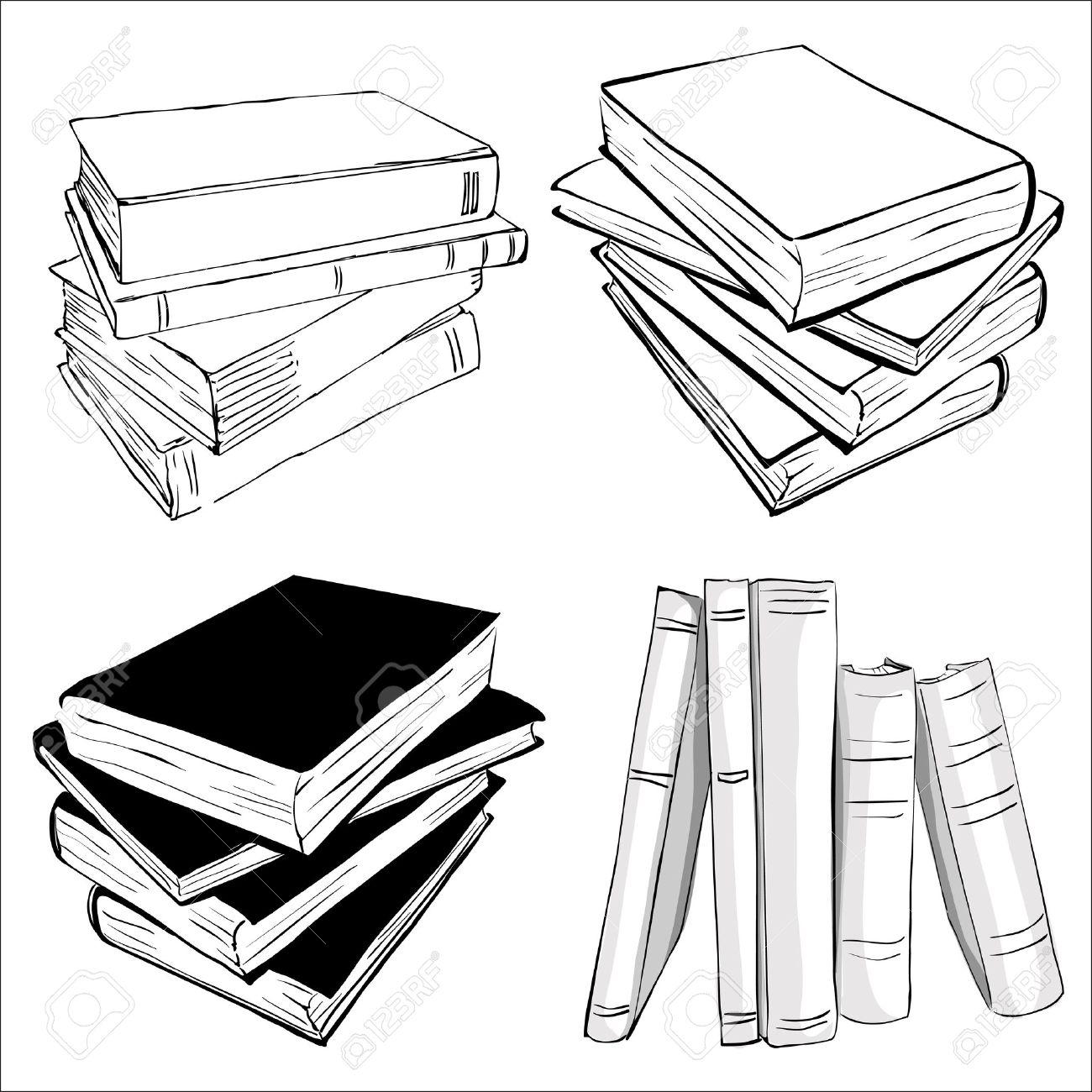 Books Drawing At Getdrawings