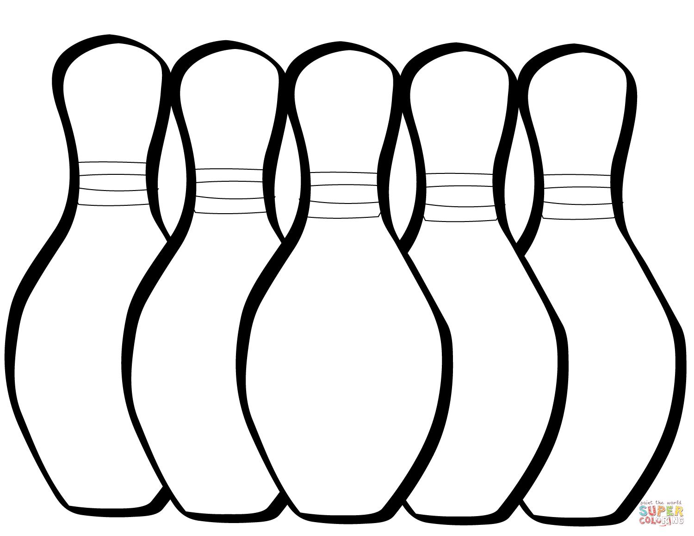 Bowling Pin Drawing At Getdrawings