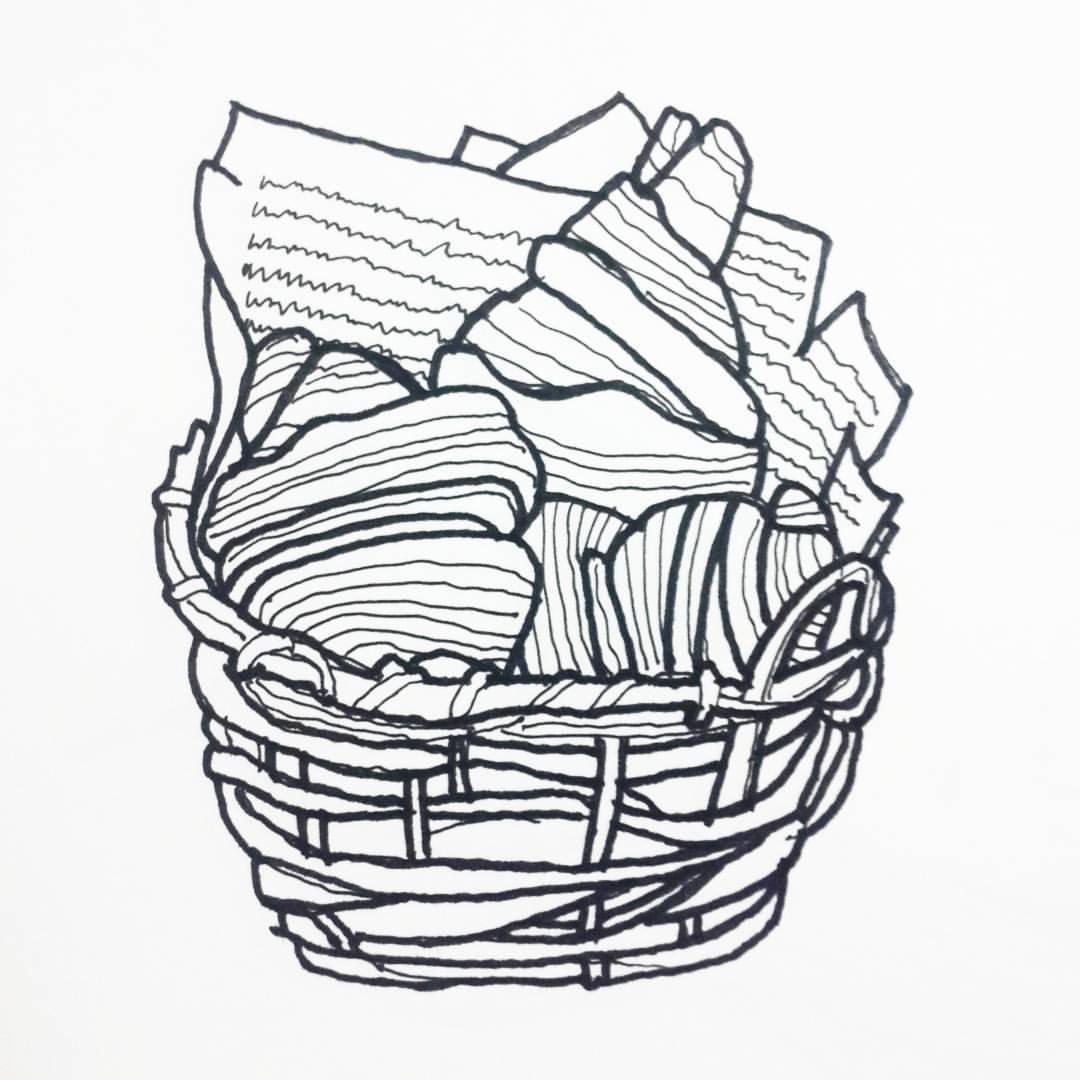 Bread Basket Drawing At Getdrawings