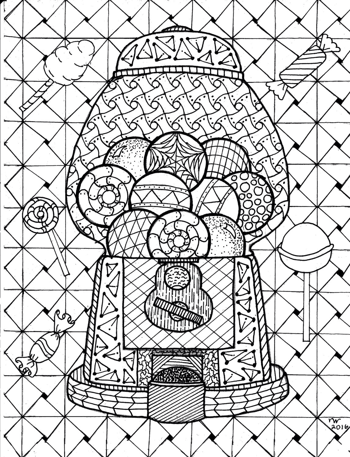 Bubble Gum Machine Drawing At Getdrawings
