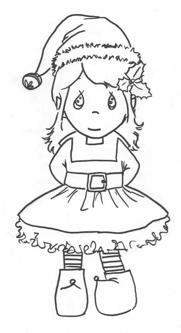 christmas elf coloring pages # 36