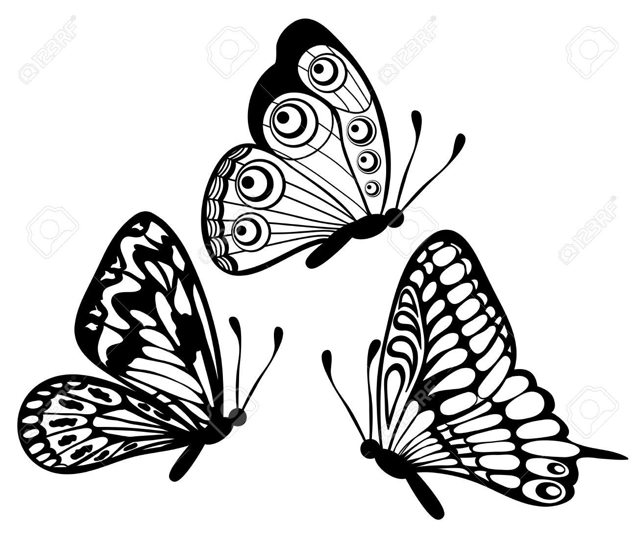 Butterflies Flying Drawing At Getdrawings