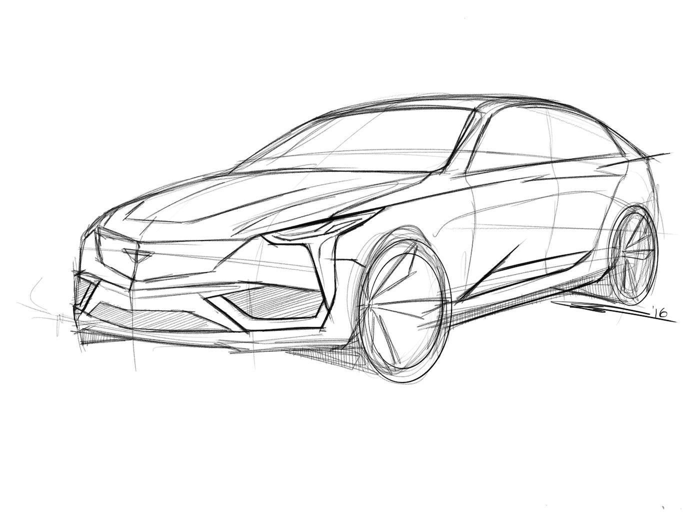 Cadillac Drawing At Getdrawings