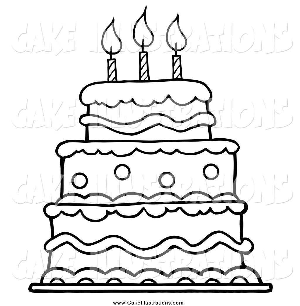 Cake Cartoon Drawing At Getdrawings