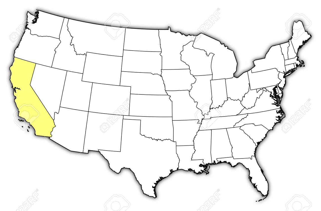 California Map Drawing At Getdrawings
