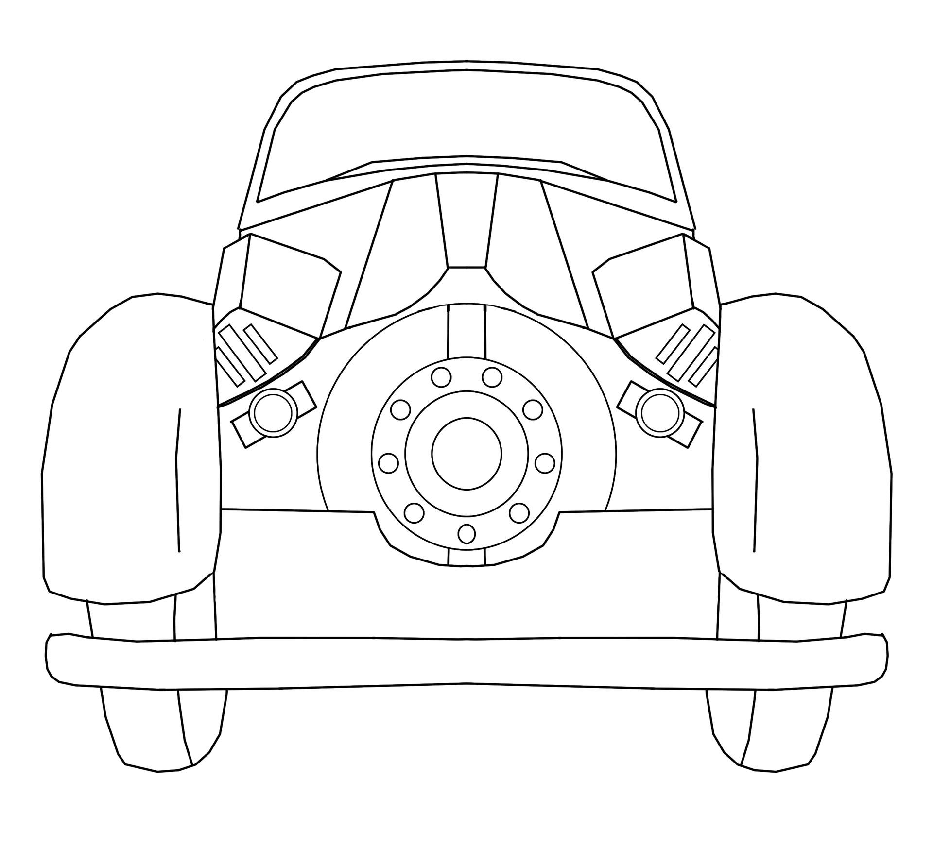 Ambulance Car Back Stock Image