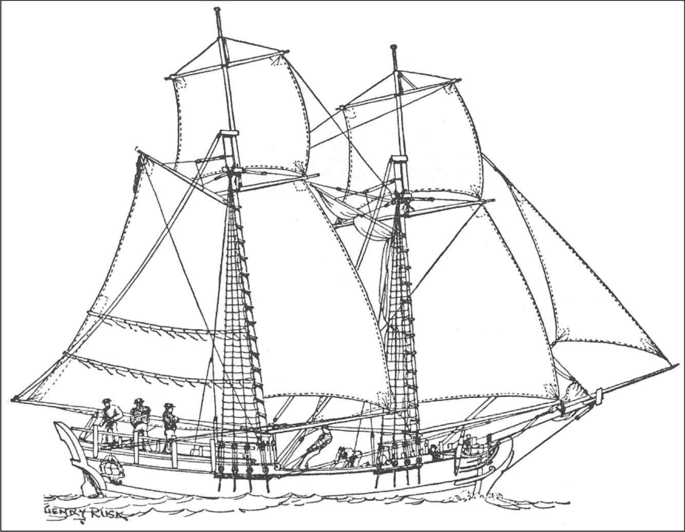 Cargo Ship Drawing At Getdrawings