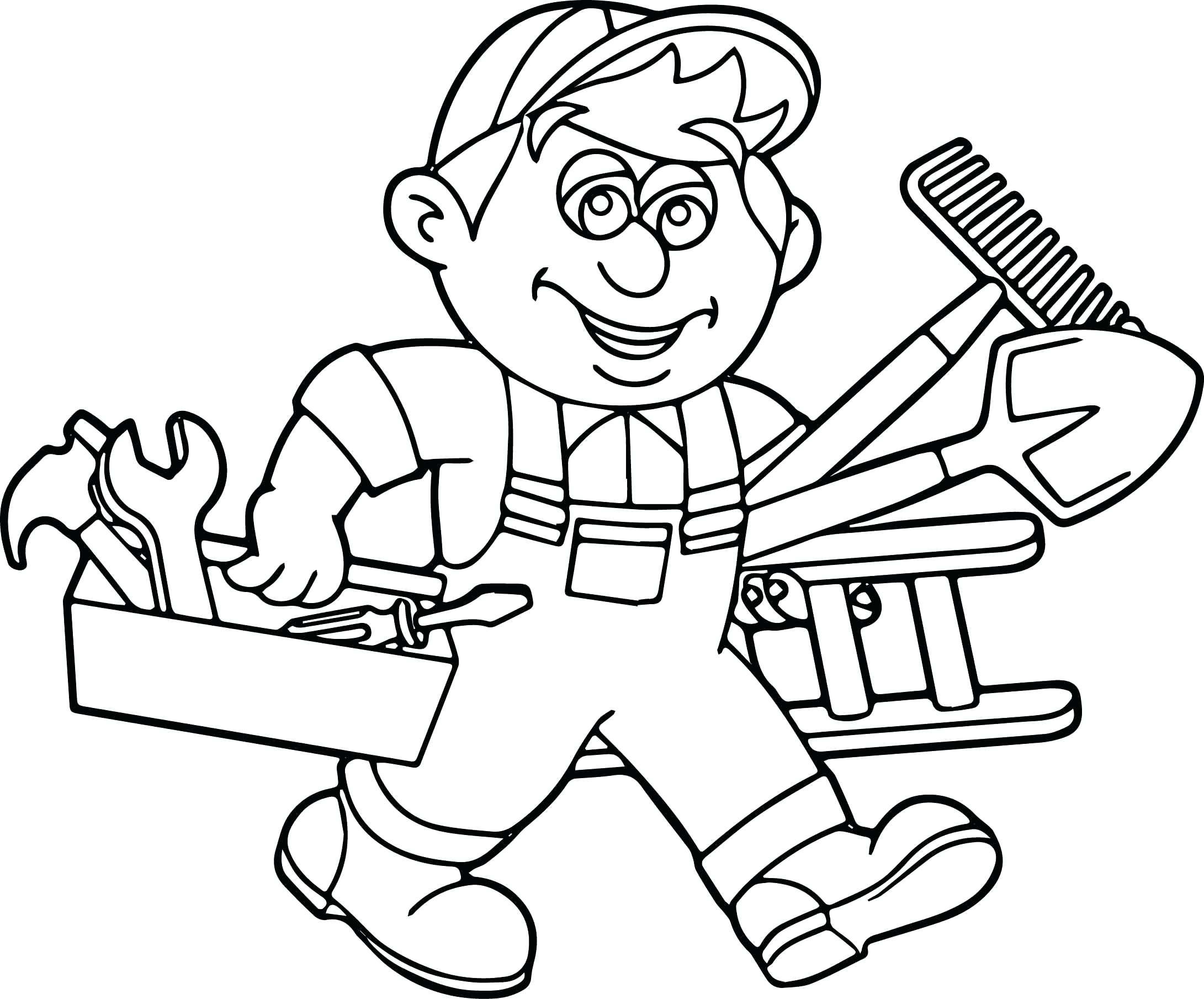Carpenter Drawing At Getdrawings