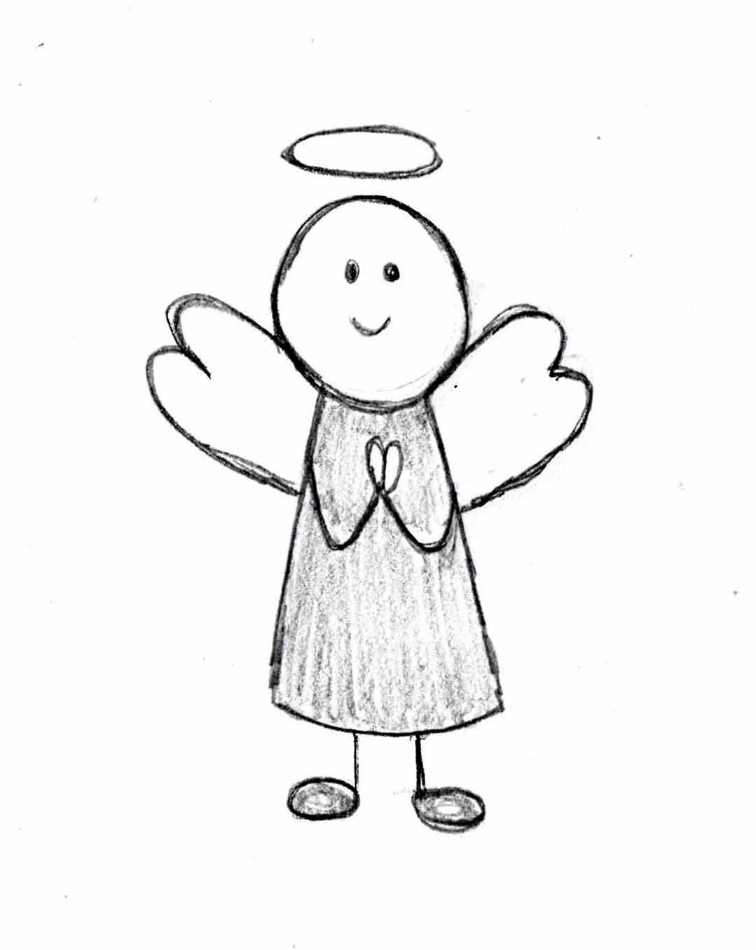 Cartoon Angel Drawing At Getdrawings