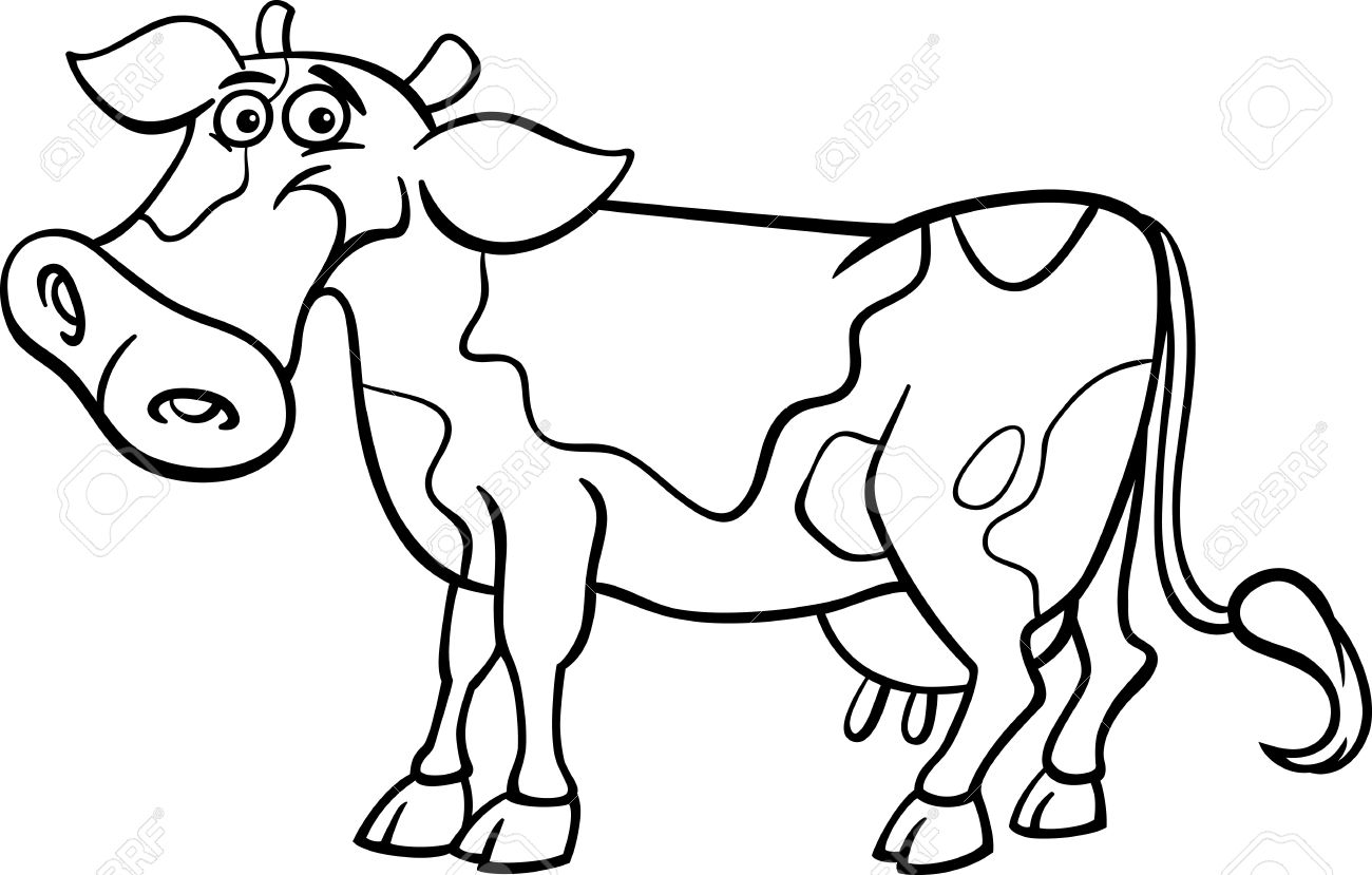 Cartoon Cows Drawing At Getdrawings