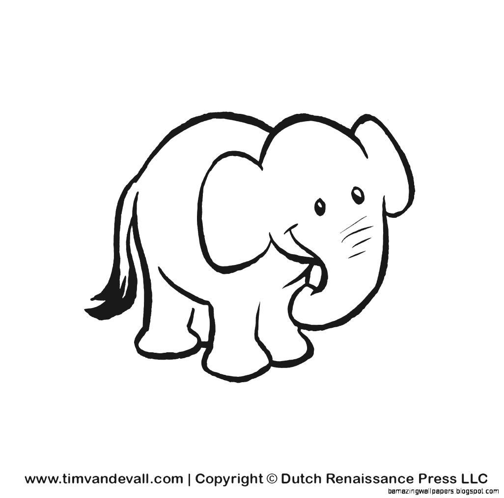 Cartoon Elephants Drawing At Getdrawings