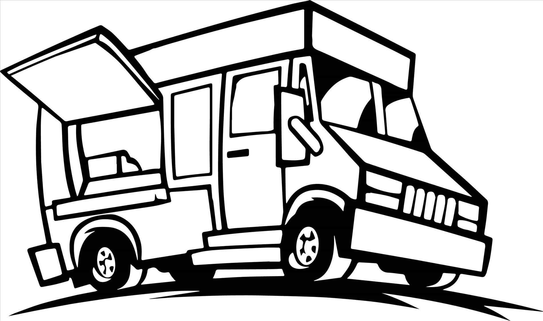 Cartoon Truck Drawing At Getdrawings
