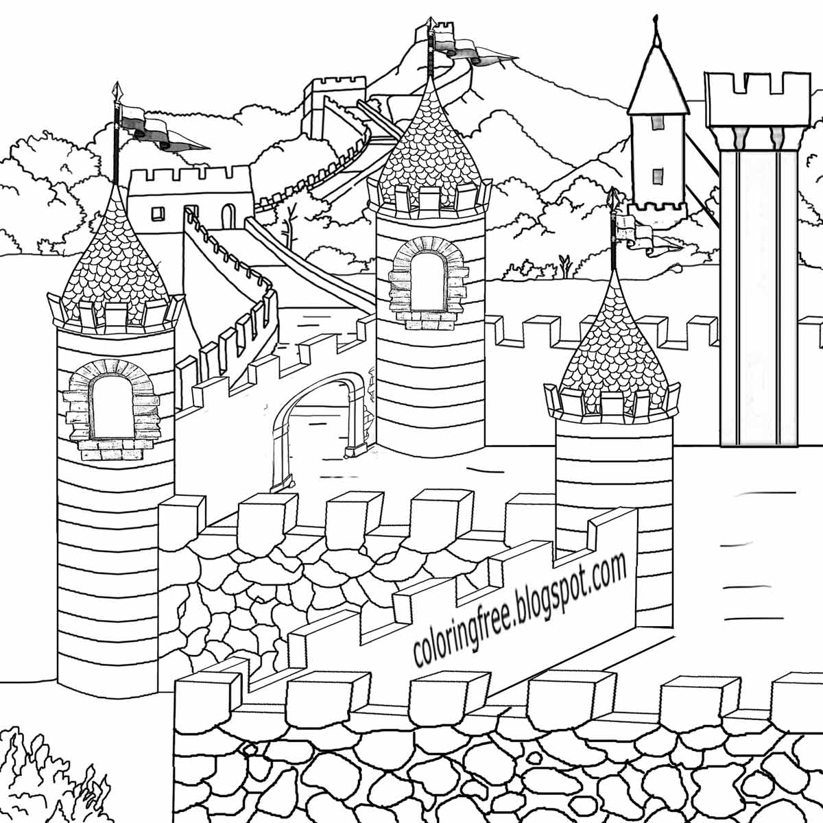 Castle Drawing Images At Getdrawings