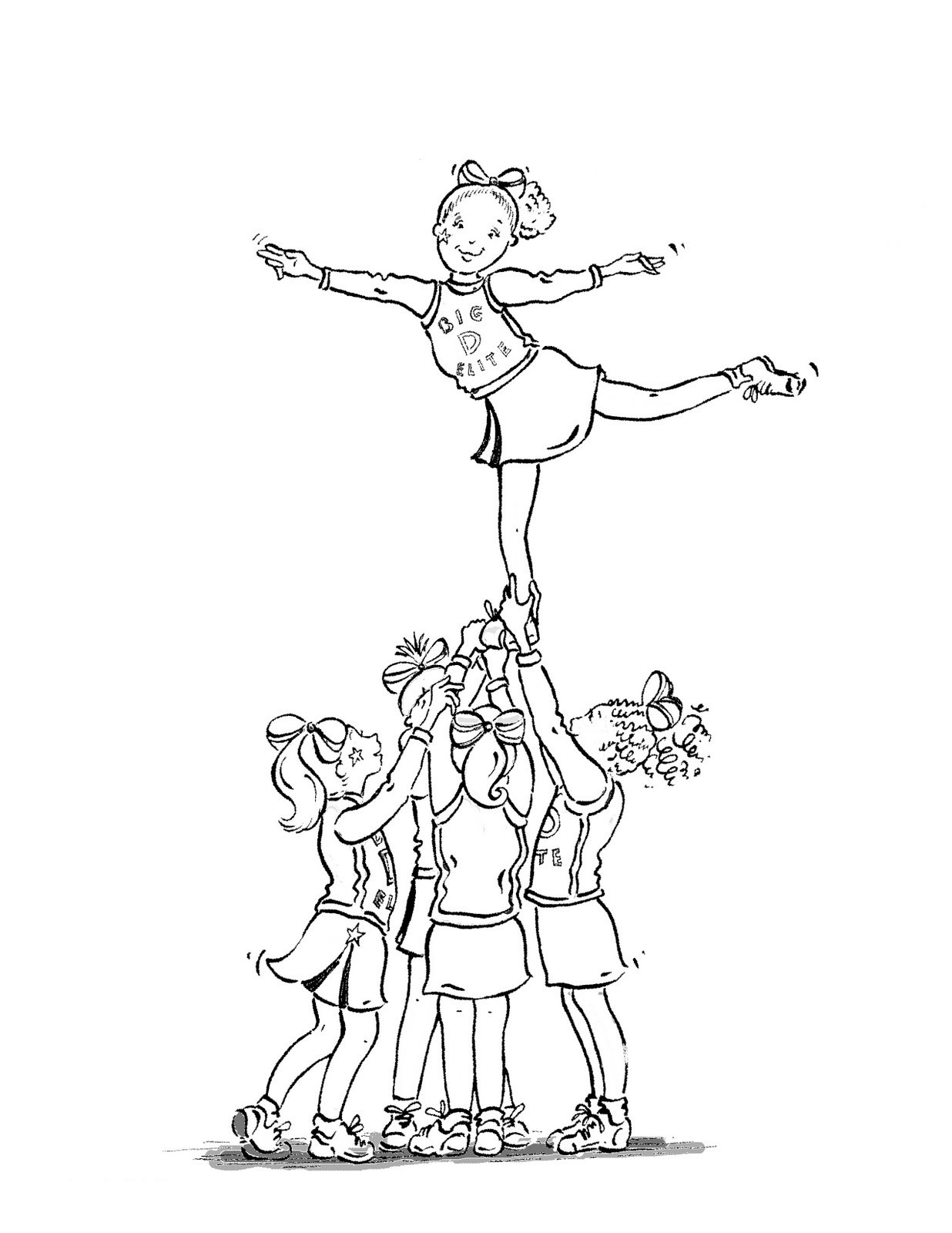 Cheer Drawing At Getdrawings