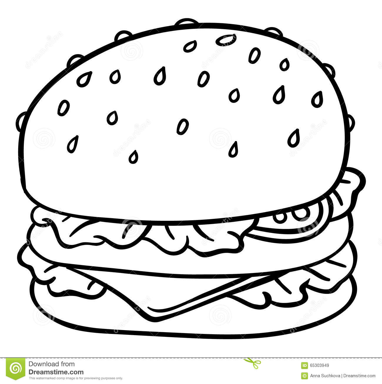 Cheeseburger Drawing At Getdrawings
