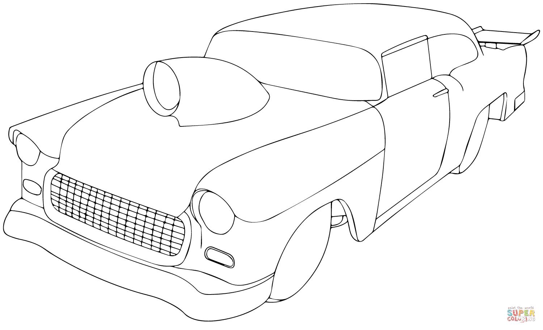Chevrolet corvette drawing