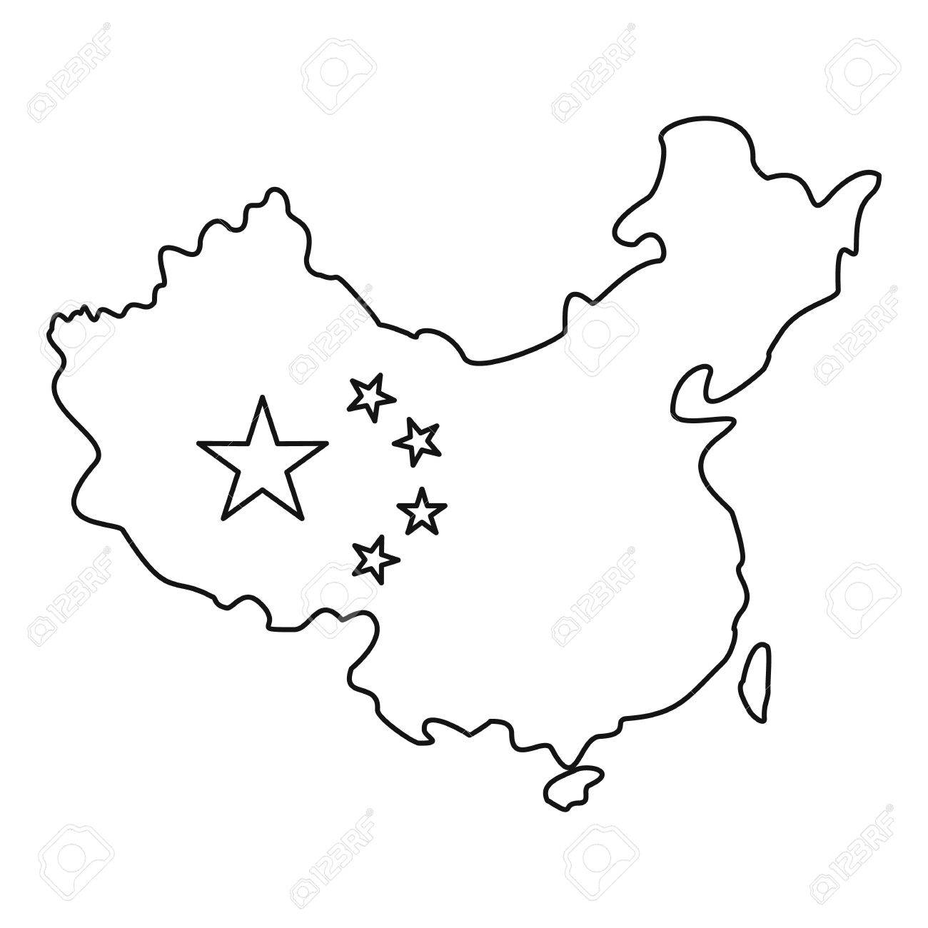 China Flag Drawing At Getdrawings