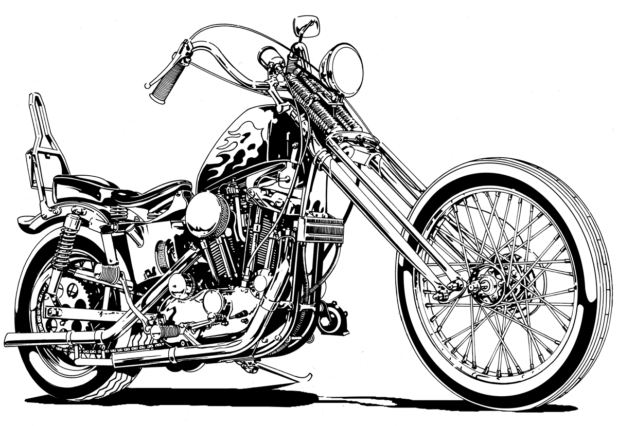 Chopper Drawing At Getdrawings