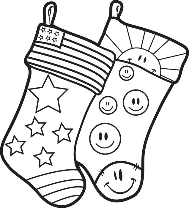 christmas sock drawing at getdrawings  free download