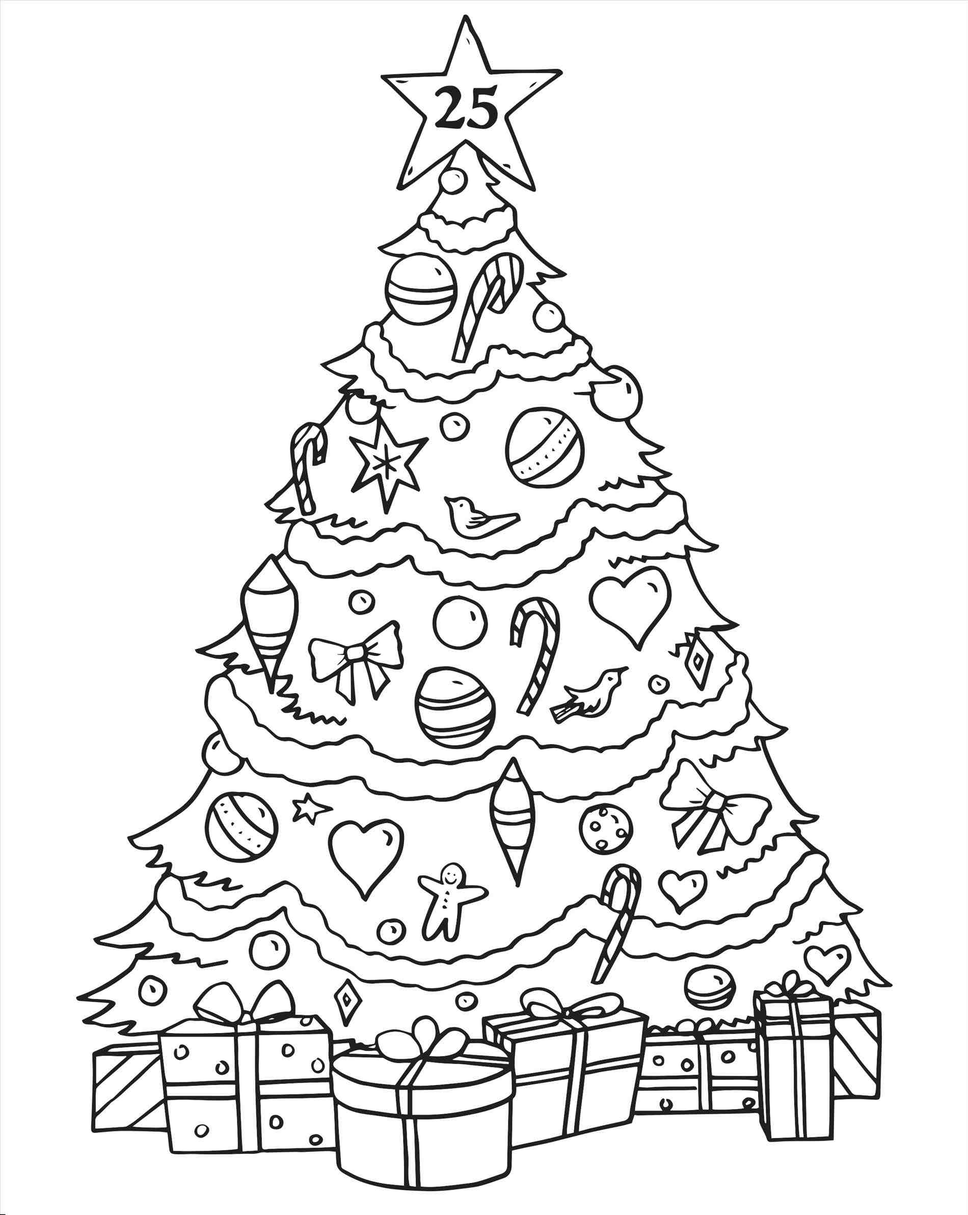 Christmas Tree Drawing For Kids At Getdrawings