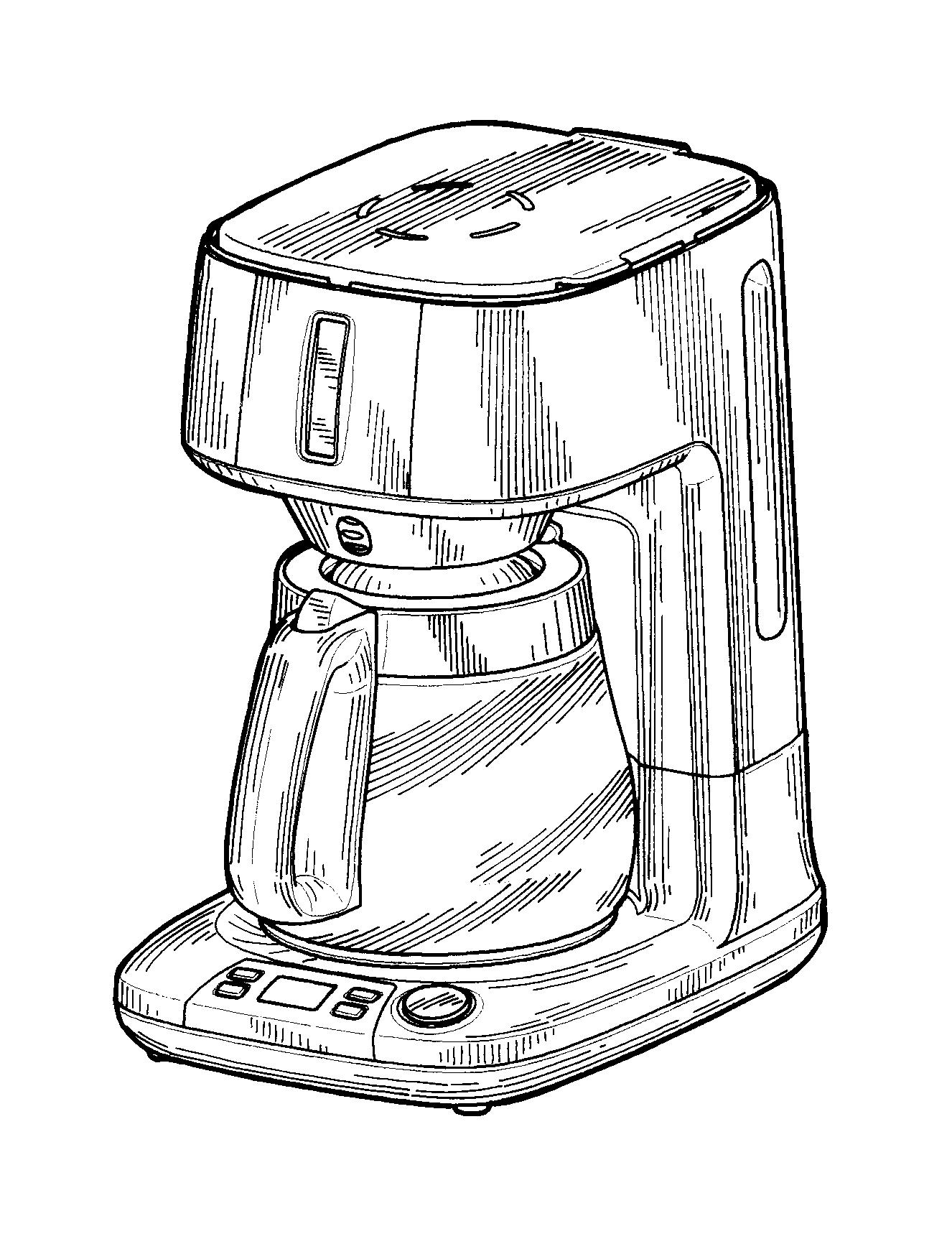 Coffee Maker Drawing At Getdrawings